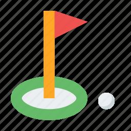 game, golf, golf club, hole, sports icon