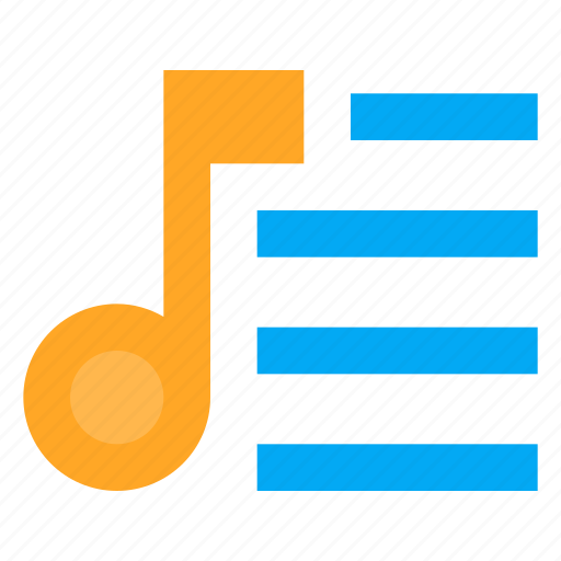music, note, playlist, song, sound, tune icon