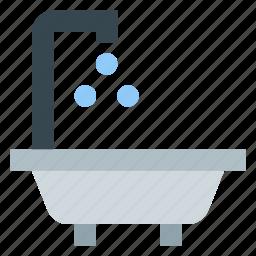 bath, bathtub, shower icon