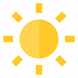 brightness, glow, light, summer, sun, sunny, weather icon