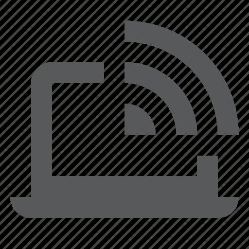 hotspot, laptop, public wifi, wifi, wireless icon