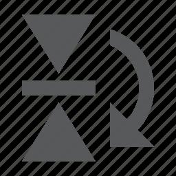 design, flip, horizontal, mirror, reflect, shape icon