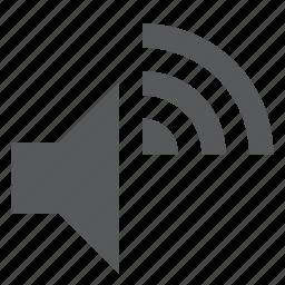 audio, music, signal, song, sound, volume, wireless icon