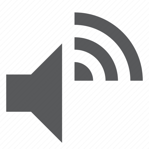 audio, music, signal, song, sound, volume, wireless icon