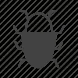 bug, data, magnifying, report, software, virus, web icon
