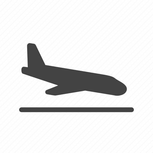 aircraft, airplane, airport, flight, plane, runway, travel icon