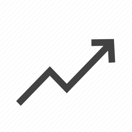 arrow, business, chart, graph, trend, trends, up icon