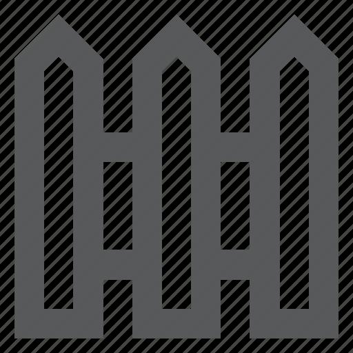 decoration, fence, garden, protection, railing, wood icon