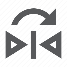 design, flip, mirror, reflect, shape, vertical icon