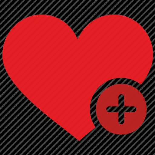 add, design, heart, like, material icon