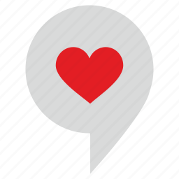 geo, love, place, pointer, romantic, tag icon