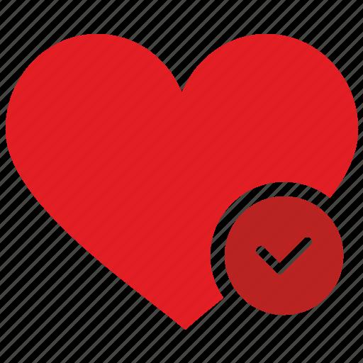 accept, design, heart, like, material icon
