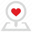 geo, like, love, place, pointer, romantic icon