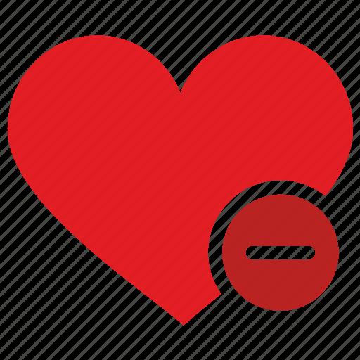 design, heart, like, material, minus icon