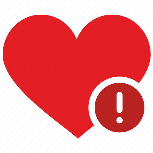 design, heart, like, material, warning icon