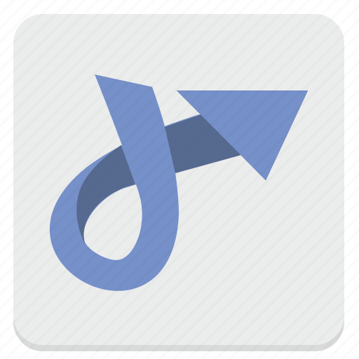 arrow, rotate, turn, way icon