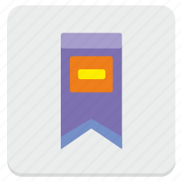 bookmark, favorite, label, sign icon