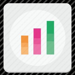 chart, data, economic, report icon