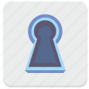 access, door, pin, safety, secret, security, well icon