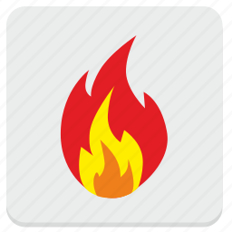 fire, fireplace, flame, shock icon