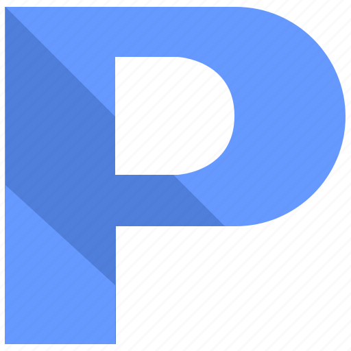 alphabet, design, latin, letter, material, p icon