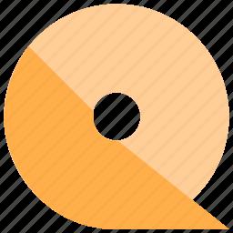 alphabet, design, latin, letter, material, q icon