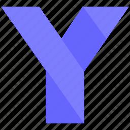 alphabet, design, latin, letter, material, y icon