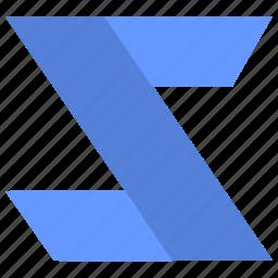 alphabet, design, latin, letter, material, z icon