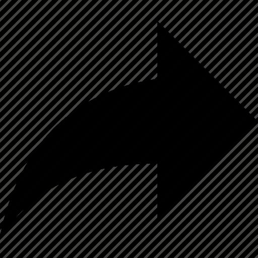 forward, share icon