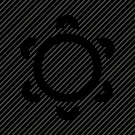 hand, instrument, music, noise, tambourine icon