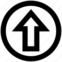 arrow, circle, direction, up, up arrow icon