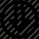 arrow, circle, direction, down, down arrow icon