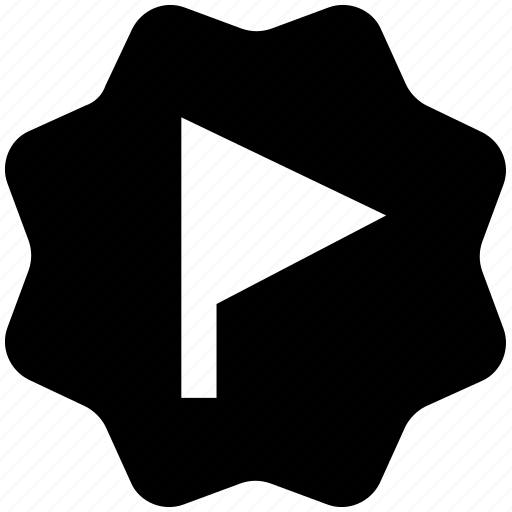 circle, flag, sign, tag, target icon