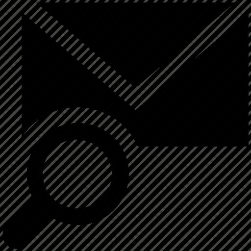 Email, envelope, find, letter, magnifier, mail, message icon - Download on Iconfinder