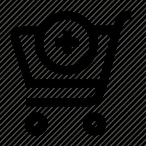 add, basket, cart, shop, shopping icon