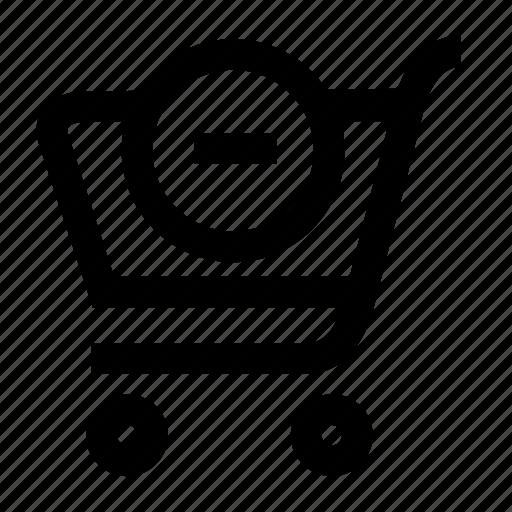 basket, cart, remove, shop, shopping icon
