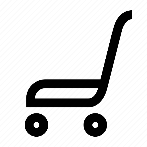 basket, cart, market, shop, track icon
