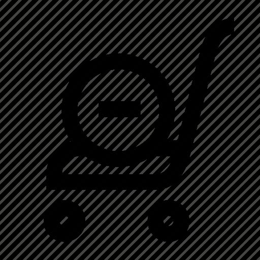 cart, market, minus, shop, track icon