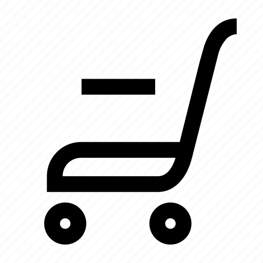 cart, market, minus, shop, track icon
