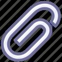 annex, attachment, paper clip icon