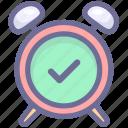 alarm, clock, on, time icon