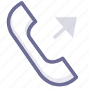 call, out, phone icon