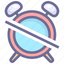 alarm, clock, off, time icon
