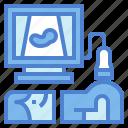 medical, pregnancy, technology, ultrasound icon