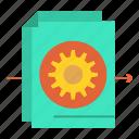 document, file, gear, settings