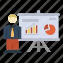 office, presentation, professor, university icon