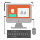 computer, editing, screen, software icon