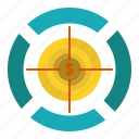 dart, dollar, focus, target