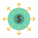 banking, budget, cash, list icon