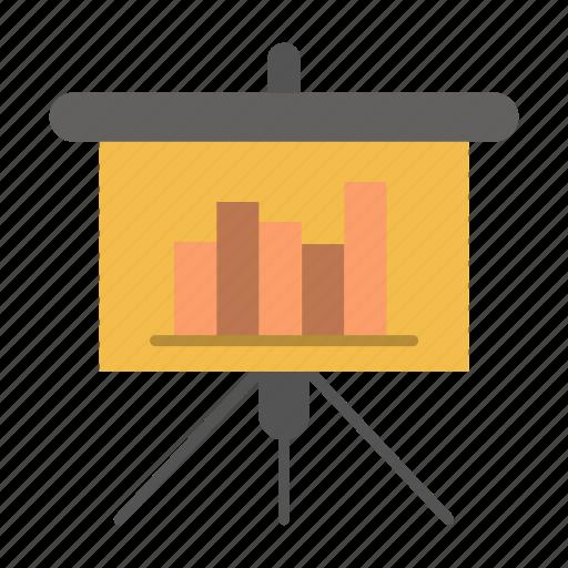 blackboard, powerpoint, presentation, report icon